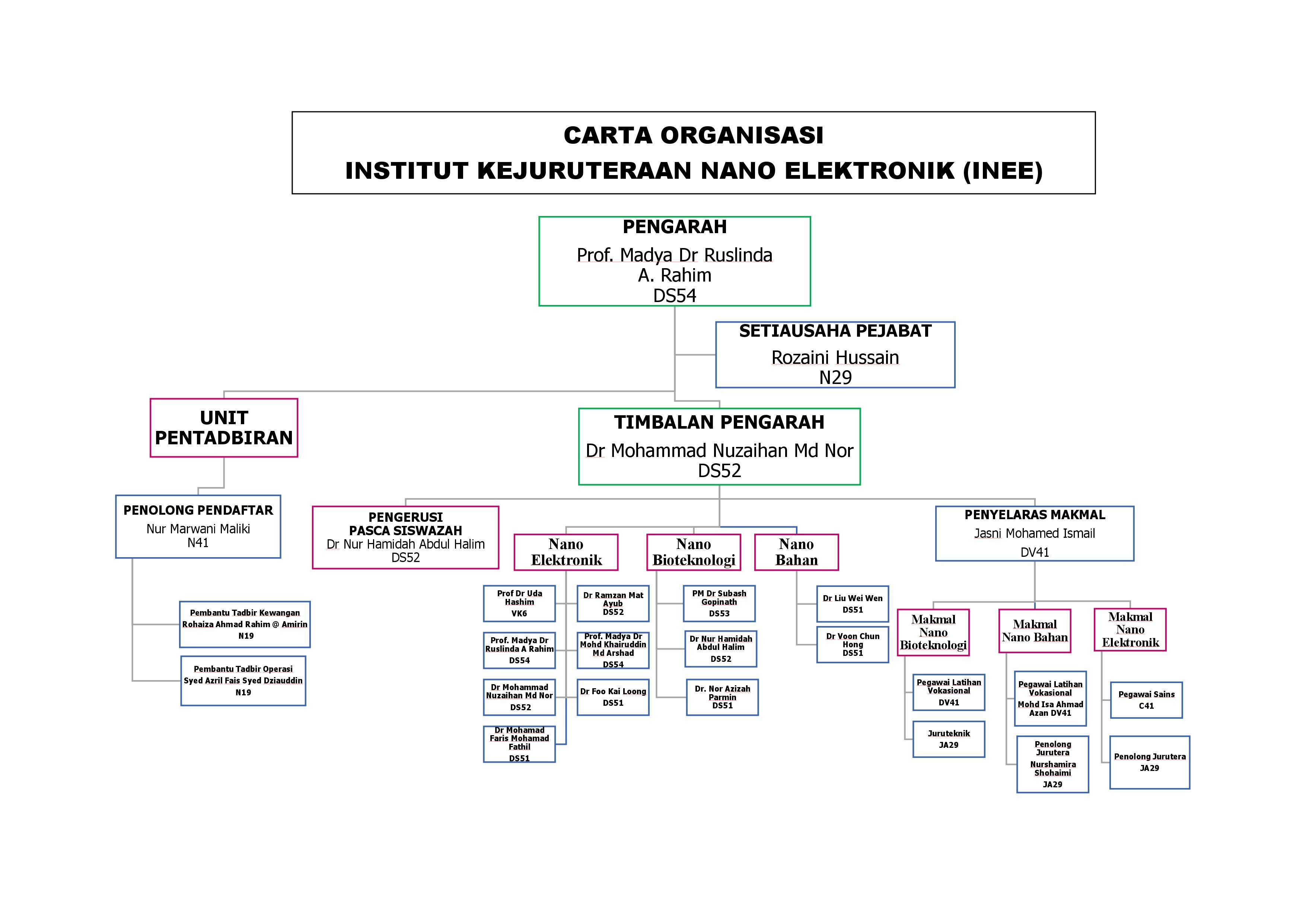 INEE Organization Chart
