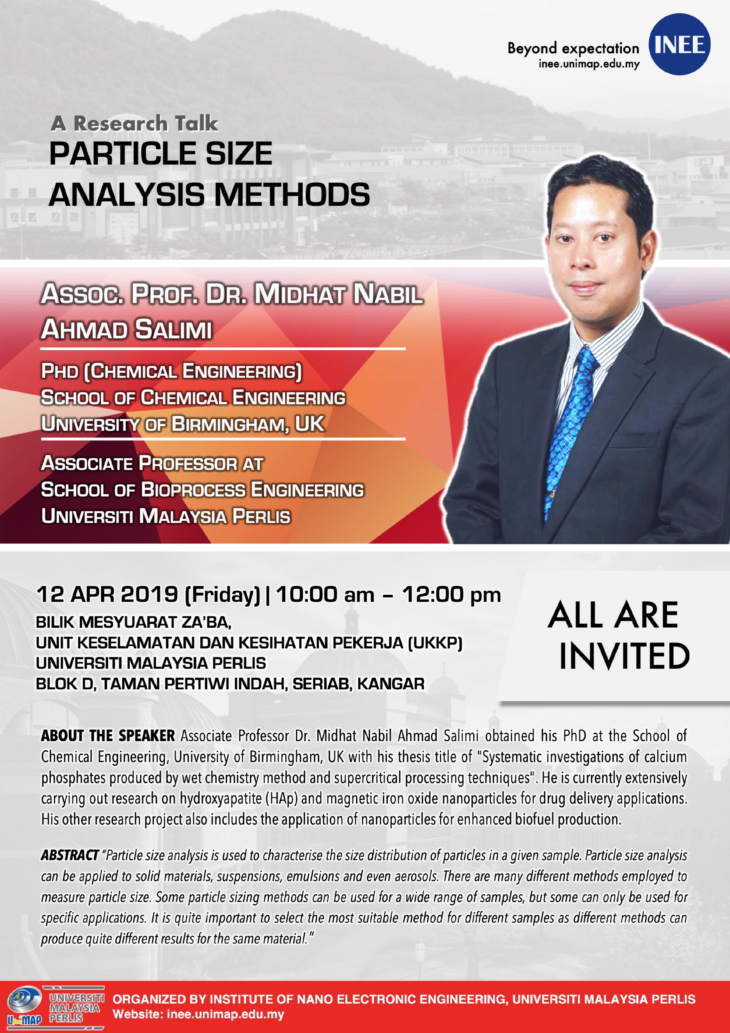 a research talk particle size analysis methods