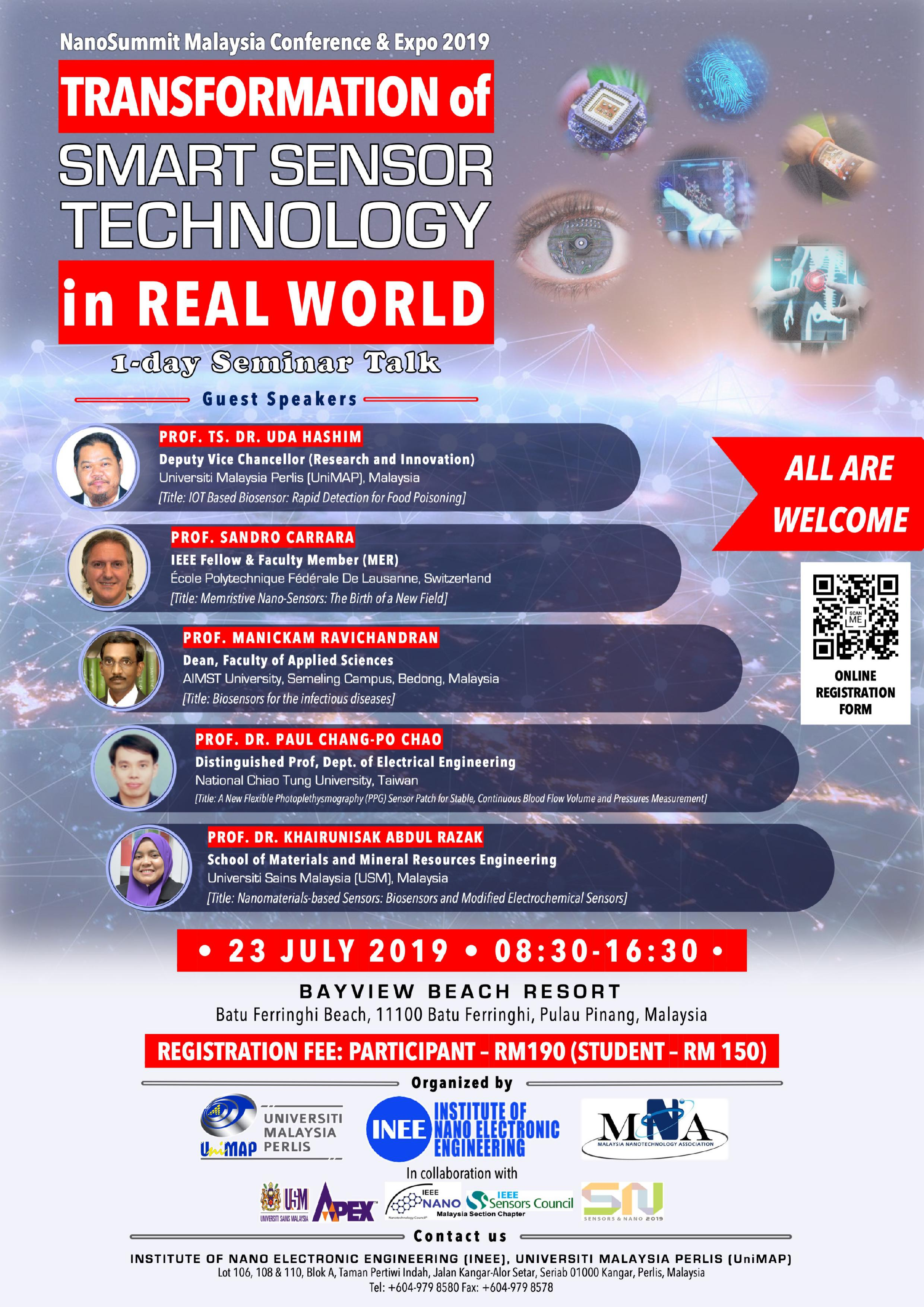 1-DAY SEMINAR TALK ON TRANSFORMATION OF SMART SENSOR TECHNOLOGY IN REAL WORLD