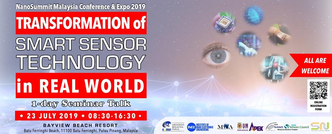 1-DAY SEMINAR TALK ON TRANSFORMATION OF SMART SENSOR TECHNOLOGY IN REAL WORLD