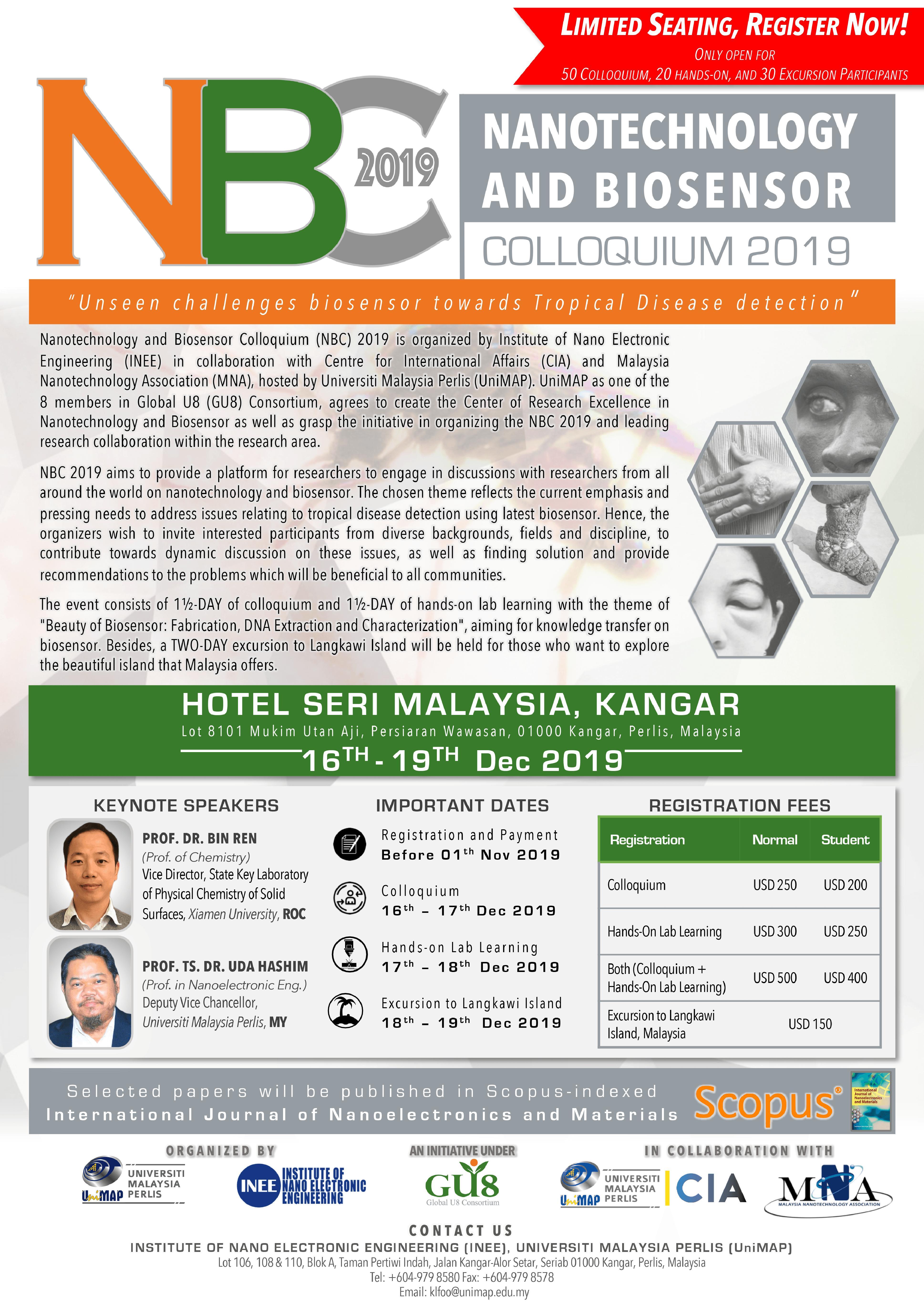 Nanotechnology and Biosensor Colloquium 2019